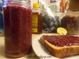raw blueberry chia jam