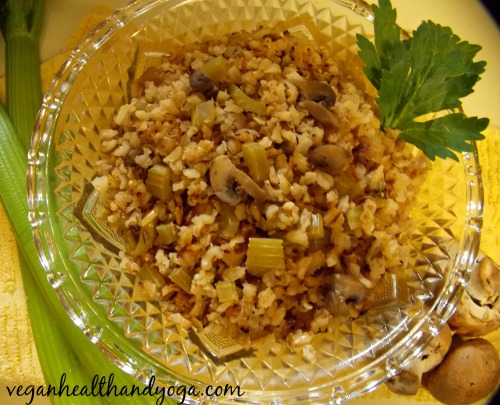 fluffy mushroom rice