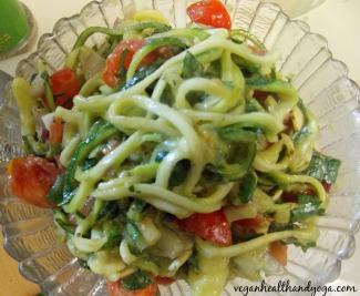 creamy raw noodles