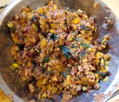 veggie burger mixture