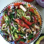 spicy raw zoodles